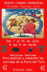 Cartel Tertulias Taurinas 2012