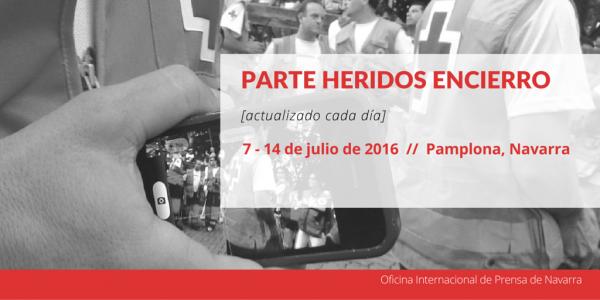 PARTE HERIDOS ENCIERRO