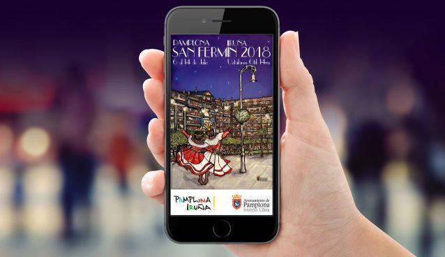 The app of SF Pamplona, sanferminoficial com, a video